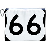 U.S. Route 66 Canvas Cosmetic Bag (XXXL) Front