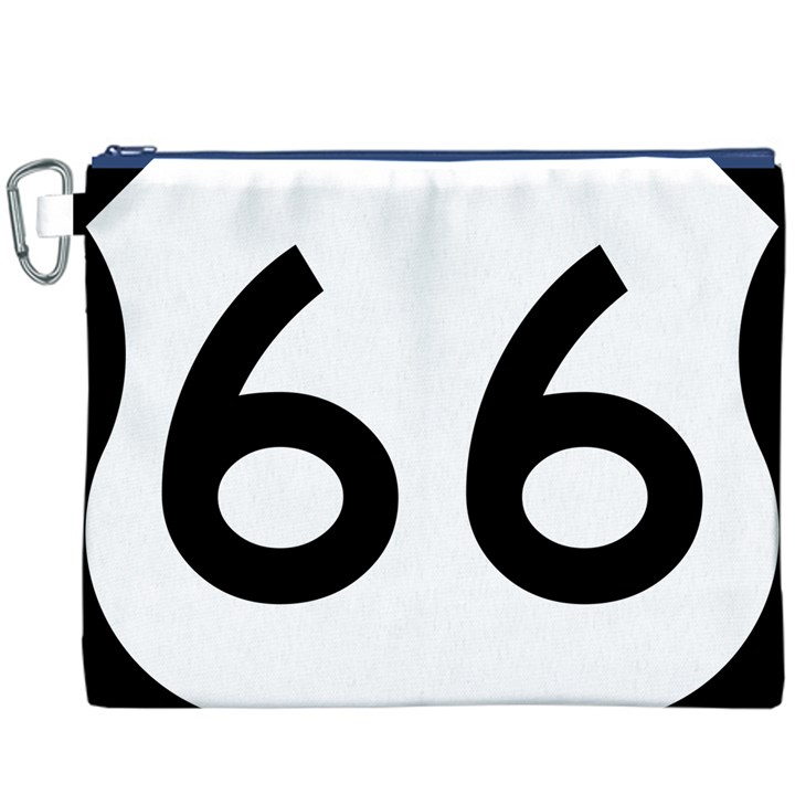 U.S. Route 66 Canvas Cosmetic Bag (XXXL)