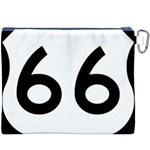 U.S. Route 66 Canvas Cosmetic Bag (XXXL) Back