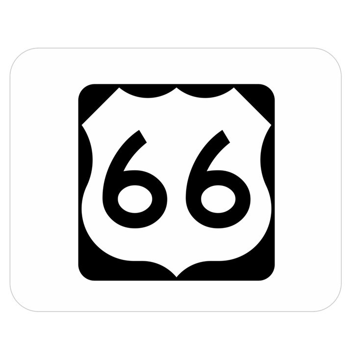 U.S. Route 66 Double Sided Flano Blanket (Medium)