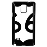 U.S. Route 66 Samsung Galaxy Note 4 Case (Black) Front