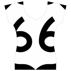 U.S. Route 66 Women s V-Neck Cap Sleeve Top
