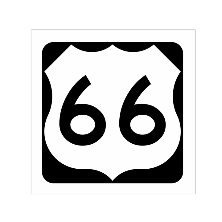 U.S. Route 66 Small Satin Scarf (Square)