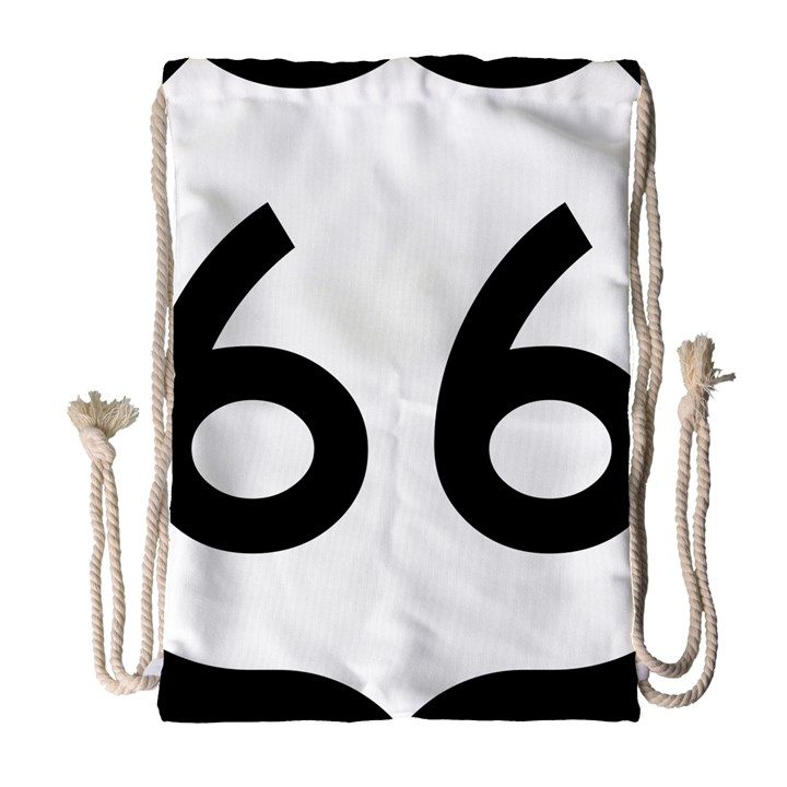 U.S. Route 66 Drawstring Bag (Large)