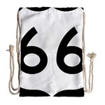U.S. Route 66 Drawstring Bag (Large) Back