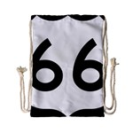 U.S. Route 66 Drawstring Bag (Small) Back