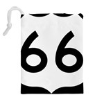 U.S. Route 66 Drawstring Pouches (Extra Large) Back