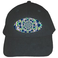 Power Spiral Polygon Blue Green White Black Cap
