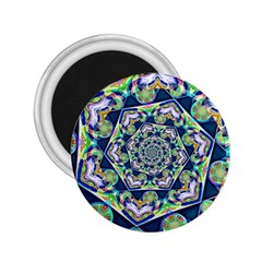 Power Spiral Polygon Blue Green White 2.25  Magnets