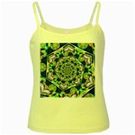 Power Spiral Polygon Blue Green White Yellow Spaghetti Tank Front