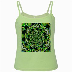 Power Spiral Polygon Blue Green White Green Spaghetti Tank