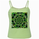 Power Spiral Polygon Blue Green White Green Spaghetti Tank Front