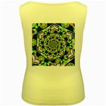 Power Spiral Polygon Blue Green White Women s Yellow Tank Top Back