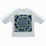 Power Spiral Polygon Blue Green White Infant/Toddler T-Shirts Front
