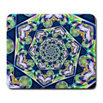 Power Spiral Polygon Blue Green White Large Mousepads Front