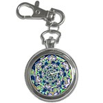 Power Spiral Polygon Blue Green White Key Chain Watches Front