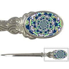 Power Spiral Polygon Blue Green White Letter Openers
