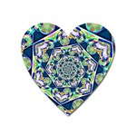 Power Spiral Polygon Blue Green White Heart Magnet Front
