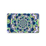 Power Spiral Polygon Blue Green White Magnet (Name Card) Front
