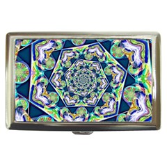Power Spiral Polygon Blue Green White Cigarette Money Cases