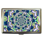 Power Spiral Polygon Blue Green White Cigarette Money Cases Front