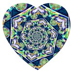 Power Spiral Polygon Blue Green White Jigsaw Puzzle (Heart) Front