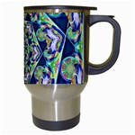 Power Spiral Polygon Blue Green White Travel Mugs (White) Right
