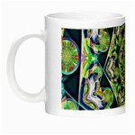 Power Spiral Polygon Blue Green White Night Luminous Mugs Left