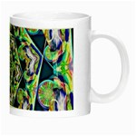Power Spiral Polygon Blue Green White Night Luminous Mugs Right