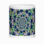 Power Spiral Polygon Blue Green White Morph Mugs Center
