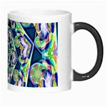 Power Spiral Polygon Blue Green White Morph Mugs Right