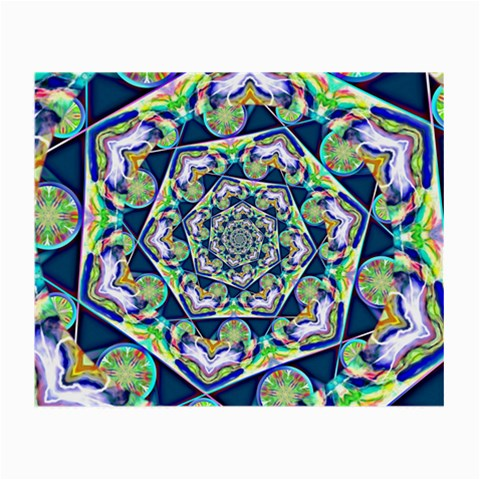 Power Spiral Polygon Blue Green White Small Glasses Cloth