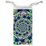 Power Spiral Polygon Blue Green White Jewelry Bags Front