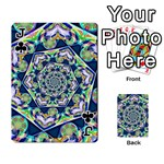 Power Spiral Polygon Blue Green White Playing Cards 54 Designs  Front - ClubJ