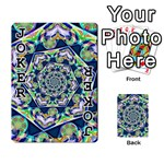 Power Spiral Polygon Blue Green White Playing Cards 54 Designs  Front - Joker1
