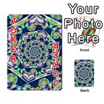 Power Spiral Polygon Blue Green White Playing Cards 54 Designs  Front - Joker2
