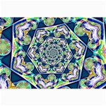 Power Spiral Polygon Blue Green White Collage Prints 18 x12 Print - 3