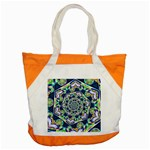 Power Spiral Polygon Blue Green White Accent Tote Bag Front