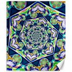 Power Spiral Polygon Blue Green White Canvas 8  x 10  10.02 x8 Canvas - 1