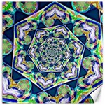 Power Spiral Polygon Blue Green White Canvas 12  x 12   12 x12 Canvas - 1