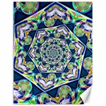 Power Spiral Polygon Blue Green White Canvas 12  x 16   16 x12 Canvas - 1