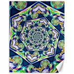 Power Spiral Polygon Blue Green White Canvas 18  x 24   24 x18 Canvas - 1