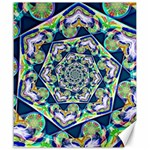 Power Spiral Polygon Blue Green White Canvas 20  x 24   24 x20 Canvas - 1