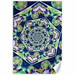 Power Spiral Polygon Blue Green White Canvas 24  x 36  36 x24 Canvas - 1