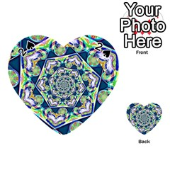 Power Spiral Polygon Blue Green White Playing Cards 54 (heart)