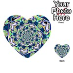 Power Spiral Polygon Blue Green White Playing Cards 54 (Heart)  Front - Spade4