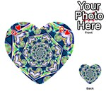 Power Spiral Polygon Blue Green White Playing Cards 54 (Heart)  Front - HeartQ