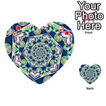 Power Spiral Polygon Blue Green White Playing Cards 54 (Heart)  Front - Diamond2
