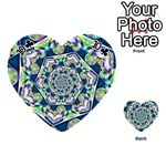 Power Spiral Polygon Blue Green White Playing Cards 54 (Heart)  Front - Club10