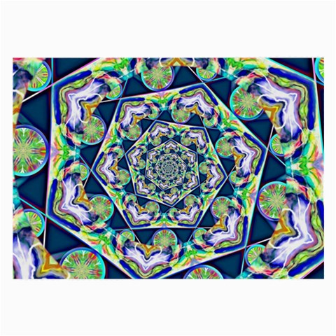 Power Spiral Polygon Blue Green White Large Glasses Cloth